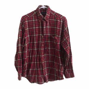John Ashford Red Long Sleeve Plaid Flannel